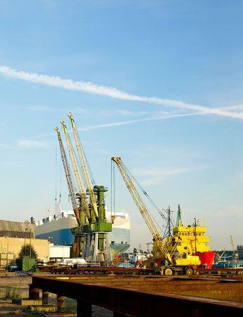 View of the quay port of Gdynia, Poland. photo