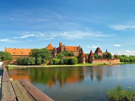 templars: The old Gothic castle in Malbork, Poland.
