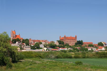 The castle is the most powerful in Gniew fortress of the Teutonic Order on the left bank of the Vistula. Built in the late thirteenth and fourteenth century. photo
