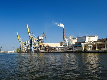 freeport: Large gantry cranes at the port of Gdansk, Poland.