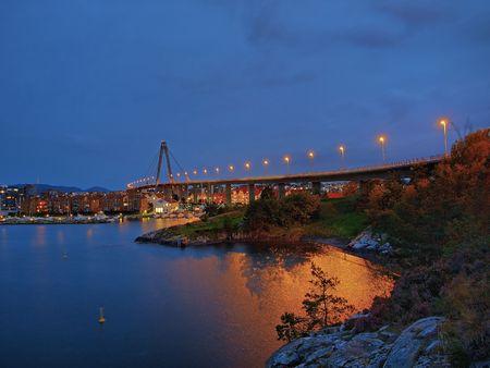 Stavanger panorama of the bridge in the background, Norway. Stock Photo - 6740353