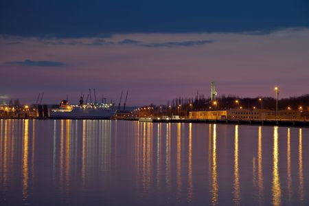 View of the quay port of Gdansk, Poland. photo