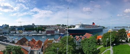 Large cruise ship docked at the port of Stavanger, Norway. Stock Photo - 6918768