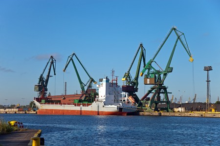 Carbon loading in ship at the port of Gdansk, Poland. Stock Photo - 7238488