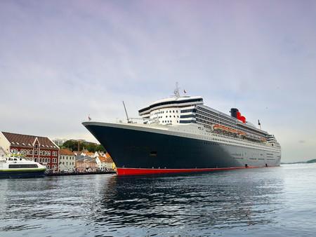 ocean liner: Huge passenger ship at the port of Stavanger, Norway.