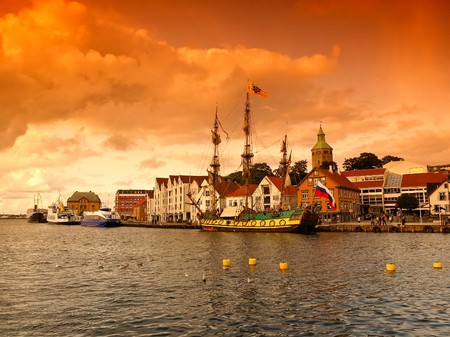 Old port town of Stavanger, Norway. Stock Photo - 7472953