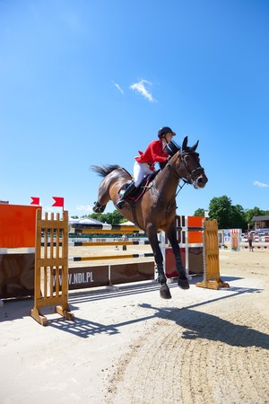 horse jumping: The international equestrian show-jumping - CSIO in Sopot, Poland.  Photo taken on: June 12, 2010