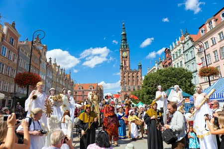 gdansk: The ceremonial opening of the Fair St. Dominic. Fair tradition dates back 750 years and from 1260 he has been held in Gdansk, July 31, 2010 in Gdansk.  Editorial