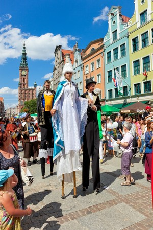 ceremonial clothing: The ceremonial opening of the Fair St. Dominic. Fair tradition dates back 750 years and from 1260 he has been held in Gdansk, July 31, 2010 in Gdansk.  Editorial