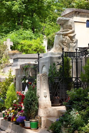 frederic chopin: The tomb of the great Polish composer Frederic Chopin in Paris. Stock Photo