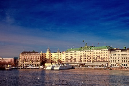 View of the beautiful architecture of Stockholm, Sweden. photo