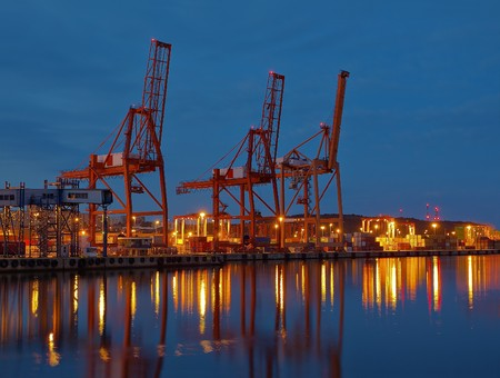 Baltic container terminal in Gdynia, Poland. photo