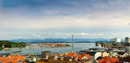 Panoramic view of the port in Stavanger, Norway. Stock Photo - 8202981