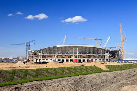 european championship: The construction of football stadium for the European Championship 2012. Gdansk, Poland.