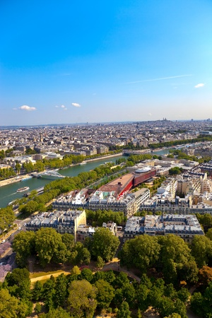 Aerial view of Paris architecture from the Eiffel tower. Photo taken on: May 18th, 2010 photo