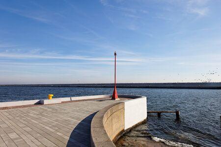 groyne: Groyne covering the port in Gdynia, Poland.