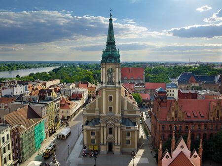 built in: Academic Church of the Holy Spirit in Torun, Poland. It was built in the mid-eighteenth century.
