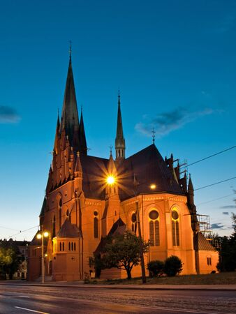 catherine: Garrison Church of St. Catherine in Torun, Poland. Stock Photo