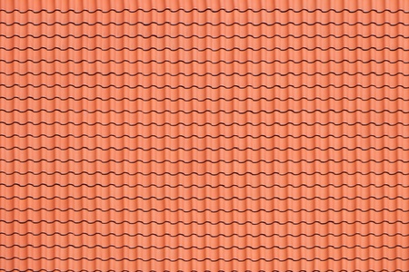 Red tiles roof, architecture background. photo