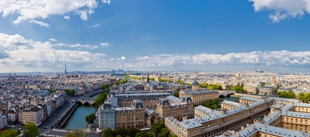 The view from Notre Dame in Paris skyline. photo