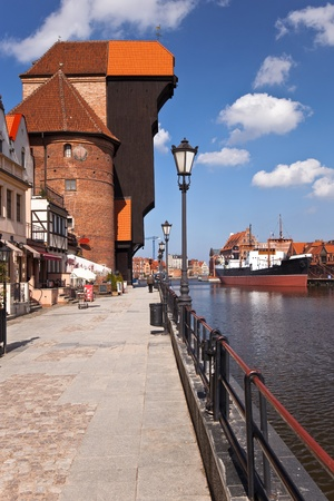 surviving: Crane in Gdansk is the oldest surviving port crane in Europe. Built between 1442 - 1444 year. Gdansk, Poland.