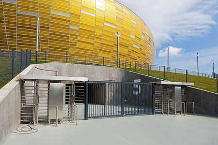 Gate to stadium PGE Arena in Gdansk, Poland. The stadium will be used for Euro 2012.  Photo taken on: August 6th, 2011 Stock Photo - 10404839