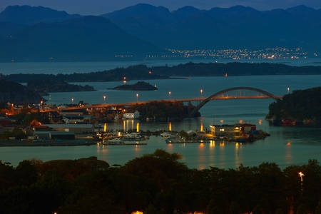 Skyline city of Stavanger, Norway. photo