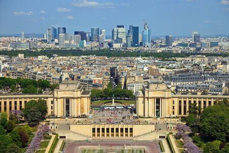 d'eiffel: View from Eiffel tower on Place de Varsovie, Pont d