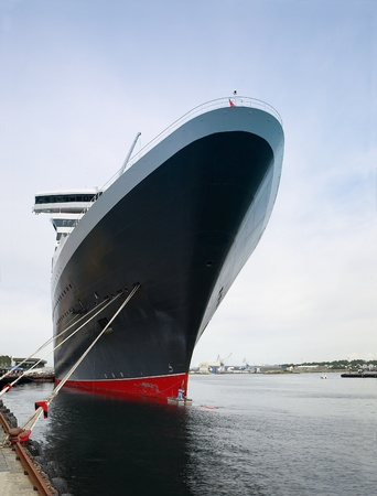ship bow: Huge passenger ship at the port of Stavanger, Norway.
