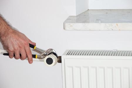 The valve repair heater - Heating Stock Photo