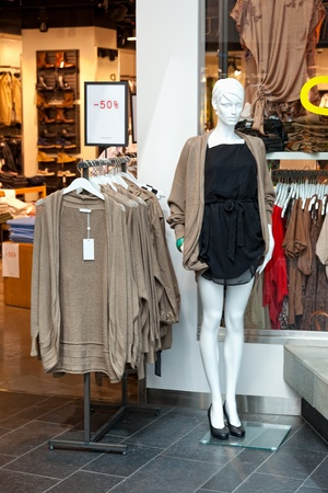 Women mannequin in shop of a fashion store. Stock Photo - 11348429