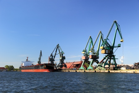 Carbon quay at the port of Gdansk, Poland. photo