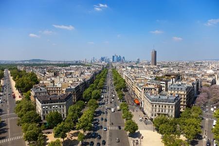 The Avenue Charles de Gaulle and La Defense, Paris