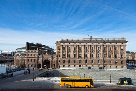 View of the Parliament in Stockholm, Sweden. photo