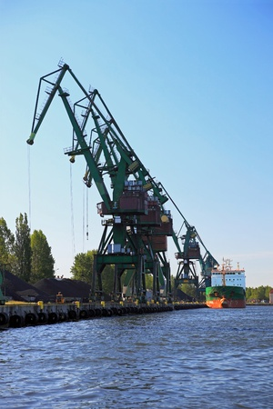 Coal terminal in the port of Gdansk, Poland. photo