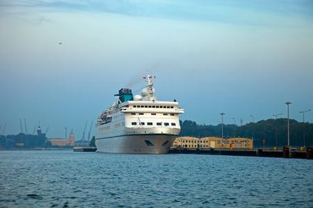 aleksander: Passenger ship berthed in Gdansk, Poland.