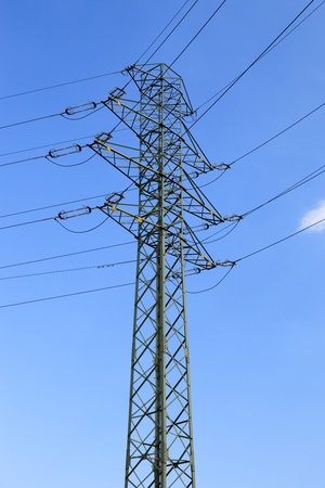 Electric high voltage power post. photo