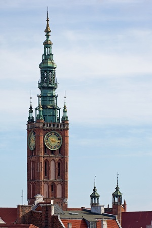 Aerial view of the City Hall in Gdansk, Poland.Photo taken on: March 8, 2011