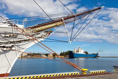 View port of Gdynia, Poland.
