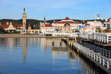 Morning in the holiday resort of Sopot, Poland. Stock Photo - 11767223