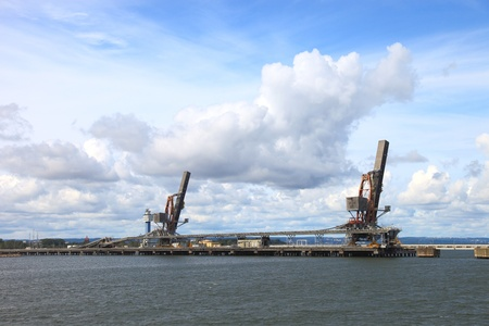 Coal terminal in the port of Gdansk, Poland.
