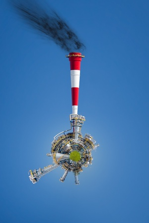 Industrial World - a vision of humorous. photo