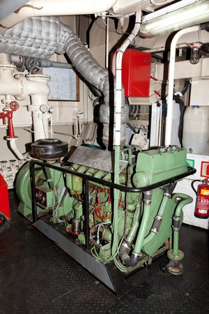 diesel generator: Emergency diesel generator on the ship.