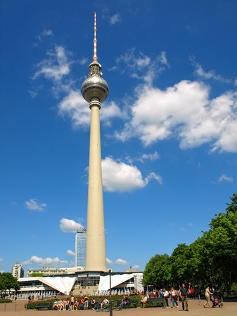The Television Tower in Alexanderplatz, Berlin, Germany.