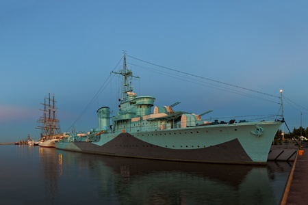 ii: Warship Grom-class destroyer serving in the Polish Navy during World War II, currently preserved as a museum ship in Gdynia, Poland.