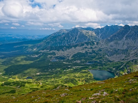 The Valley of the Gasienicowa is a group of glacial lakes in the High Tatras, Poland. photo