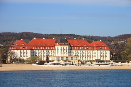 Grand Hotel - historic building in Sopot, Poland. Stock Photo - 13365065
