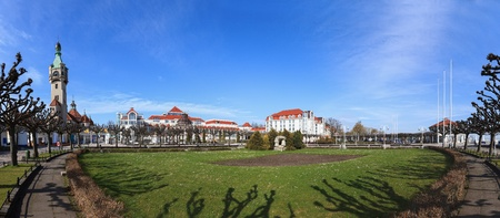 Sopot city panorama seen from the pier, Poland.  Stock Photo - 13436567