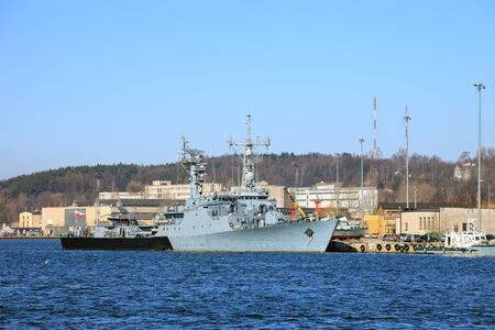 radar gun: A corvette warship belonging to the Polish Navy   Editorial