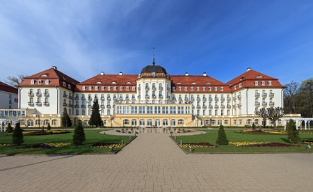 Grand Hotel - historic building in Sopot, Poland. Photo taken on: April 26th, 2012 Stock Photo - 13669151